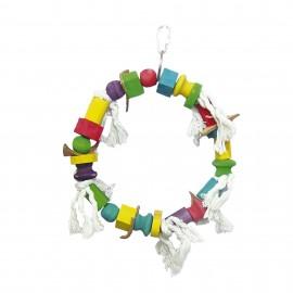 Ica Juguete de Madera en Forma de Aro Multicolor