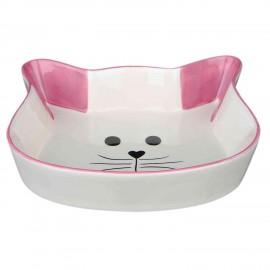 Trixie comedero gato rosa