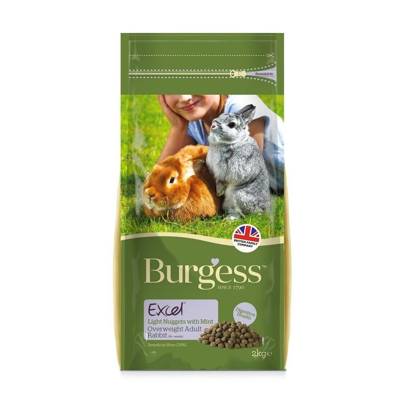 Burgess Pienso Light para Conejos con Menta