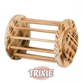 Trixie Porta Heno con Tapa de Madera Natural