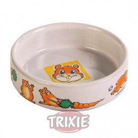Trixie Comedero Cerámico Blanco con Motivos de Animales