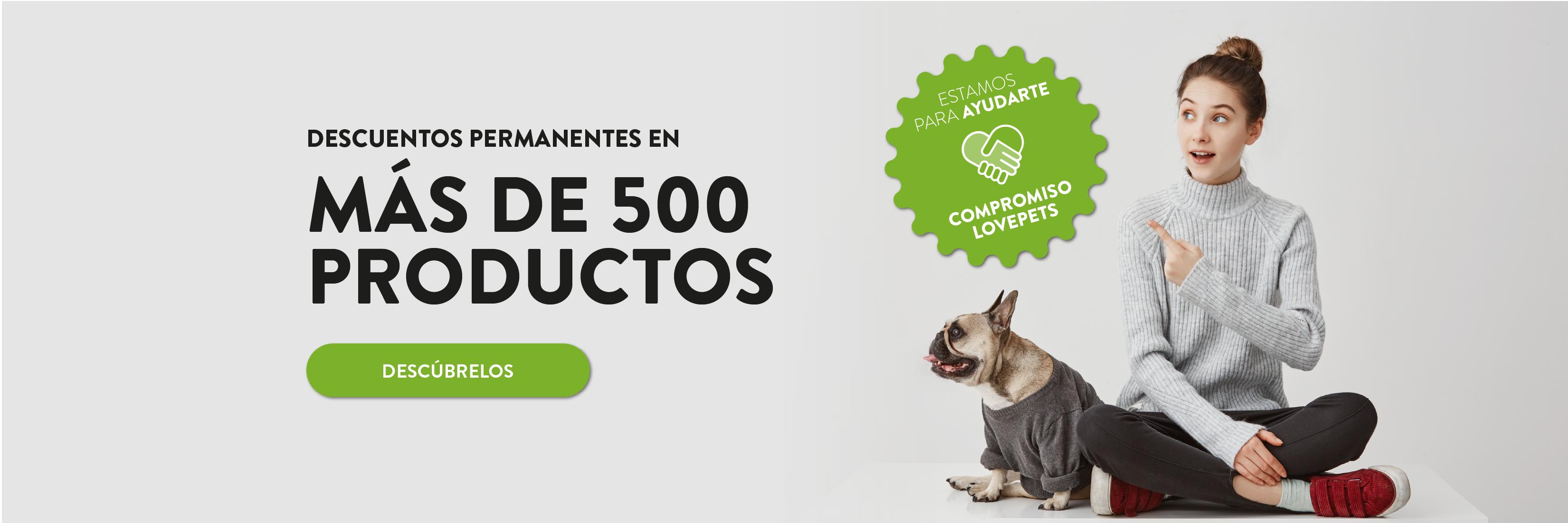 Más de 500 Productos con descuento
